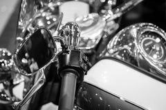 Οι μακρο λεπτομέρειες μοτοσικλετών κλείνουν επάνω Στοκ Εικόνα