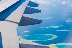 Οι Μαλδίβες, υδροπλάνο, κλείνουν επάνω Στοκ Φωτογραφίες