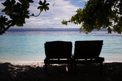 Οι Μαλδίβες χαλαρώνουν Στοκ φωτογραφίες με δικαίωμα ελεύθερης χρήσης