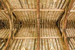 Οι μεγάλες ξυλείες στεγών αιθουσών, Stokesay Castle, Shropshire, Αγγλία Στοκ Φωτογραφία
