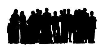 Οι μεγάλες σκιαγραφίες ομάδων ανθρώπων θέτουν 1 απεικόνιση αποθεμάτων