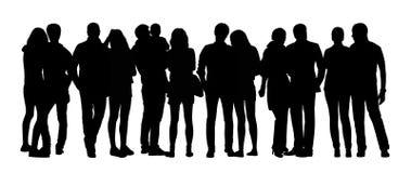 Οι μεγάλες σκιαγραφίες ομάδων ανθρώπων θέτουν 12 απεικόνιση αποθεμάτων