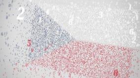 Οι μειωμένοι αριθμοί αποτελούν τη σημαία της ΔΗΜΟΚΡΑΤΊΑΣ ΤΗΣ ΤΣΕΧΊΑΣ Εθνική λ$σχετική με την ΤΠ τρισδιάστατη ζωτικότητα τεχνολογί απόθεμα βίντεο