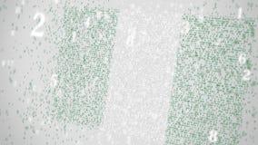 Οι μειωμένοι αριθμοί αποτελούν τη σημαία της ΝΙΓΗΡΙΑΣ Εθνική λ$σχετική με την ΤΠ τρισδιάστατη ζωτικότητα τεχνολογίας πληροφοριών απόθεμα βίντεο