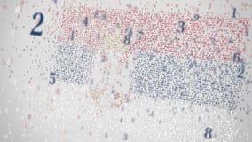 Οι μειωμένοι αριθμοί αποτελούν τη σημαία της ΣΕΡΒΙΑΣ Εθνική λ$σχετική με την ΤΠ τρισδιάστατη ζωτικότητα τεχνολογίας πληροφοριών φιλμ μικρού μήκους