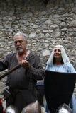Οι Μεσαίωνες στη μεσαιωνική αγορά Erba - περιοχή Villincino την Κυριακή 13 Μαΐου 2018 στοκ εικόνα