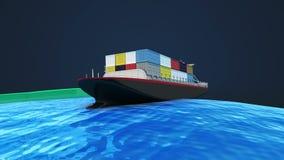 Οι μετακινήσεις της ναυτιλίας για το εμπόριο του παγκόσμιου επιχειρηματικού πεδίου ελεύθερη απεικόνιση δικαιώματος
