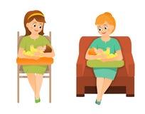 Οι μητέρες θηλάζουν Στοκ εικόνα με δικαίωμα ελεύθερης χρήσης
