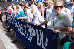 Οι μητέρες του Plaza de Mayo Στοκ φωτογραφία με δικαίωμα ελεύθερης χρήσης