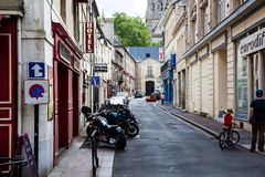 Οι μικρές οδοί του Bayeux στοκ φωτογραφίες