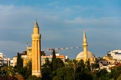 Οι μιναρή σε Antalya Στοκ Φωτογραφίες