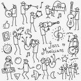 Οι μουσικοί doodles θέτουν Στοκ εικόνες με δικαίωμα ελεύθερης χρήσης