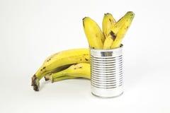 Οι μπανάνες και μπορούν Στοκ εικόνα με δικαίωμα ελεύθερης χρήσης