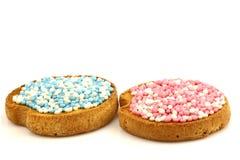 οι μπλε ρόδινες φρυγανιέ&si Στοκ Εικόνες
