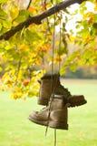 οι μπότες πέφτουν παλαιές Στοκ φωτογραφία με δικαίωμα ελεύθερης χρήσης