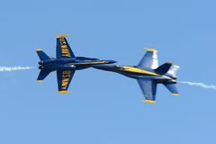 Οι μπλε άγγελοι στο μεγάλο αέρα της Νέας Αγγλίας παρουσιάζουν Στοκ Εικόνες