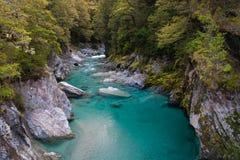 Οι μπλε λίμνες, τοποθετούν το εθνικό πάρκο επιδίωξης, Νέα Ζηλανδία Στοκ Εικόνα