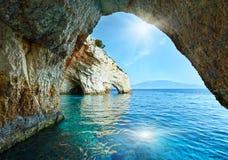 Οι μπλε σπηλιές στη Ζάκυνθο Ελλάδα Στοκ Εικόνα