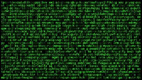 Οι μυστικοί κώδικες στην οθόνη Έννοια της ασφάλειας cyber φιλμ μικρού μήκους