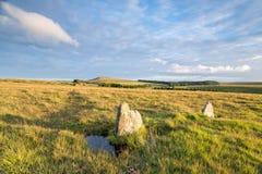 Οι μόνιμες πέτρες σε Bodmin δένουν Στοκ εικόνες με δικαίωμα ελεύθερης χρήσης