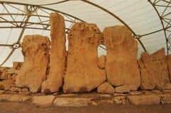 Οι μόνιμες πέτρες Hagar Qim Στοκ Εικόνες