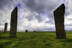 Οι μόνιμες πέτρες Stenness, Orkney Στοκ εικόνα με δικαίωμα ελεύθερης χρήσης