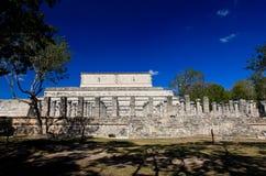 οι ναοί ναών itza Στοκ Εικόνες