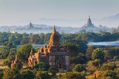 Οι ναοί bagan στην ανατολή, Bagan, το Μιανμάρ Στοκ Εικόνες