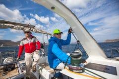 Οι ναυτικοί συμμετέχουν το 16ο φθινόπωρο 2016 Ellada regatta ναυσιπλοΐας Στοκ Εικόνες