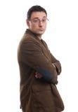 Οι νεολαίες δροσίζουν το καθιερώνον τη μόδα άτομο με τα γυαλιά Στοκ Εικόνα