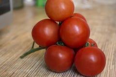 Οι ντομάτες κλείνουν την άποψη Στοκ Εικόνα