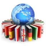 Οι ξένες γλώσσες μαθαίνουν και μεταφράζουν την έννοια εκπαίδευσης Στοκ εικόνα με δικαίωμα ελεύθερης χρήσης