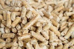 Οι ξύλινοι σβόλοι κλείνουν επάνω με το εκλεκτικό foocus Εναλλακτικά βιολογικά καύσιμα από το πριονίδι για το κάψιμο στους φούρνου στοκ εικόνες