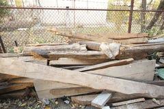 Οι ξύλινες σανίδες Στοκ εικόνα με δικαίωμα ελεύθερης χρήσης