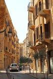 Οι οδοί της στο κέντρο της πόλης Βηρυττού στοκ εικόνα