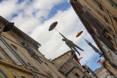 Οι οδοί Arles σε Camargue στη Γαλλία Στοκ Φωτογραφία