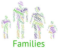 Οι οικογένειες Word αντιπροσωπεύουν την οικογένεια και το κείμενο σχέσεων απεικόνιση αποθεμάτων