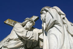 οι 4οι σταθμοί του σταυρού, Ιησούς συναντούν τη μητέρα του Στοκ Φωτογραφίες