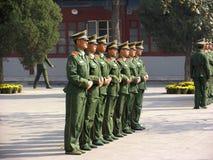 Στρατιώτες της Κίνας στοκ φωτογραφίες