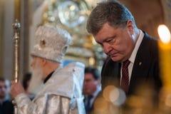 Οι ουκρανικοί πολιτικοί τιμούν τη μνήμη των σκοτωμένων ενεργών στελεχών EuroMaidan Στοκ Εικόνες