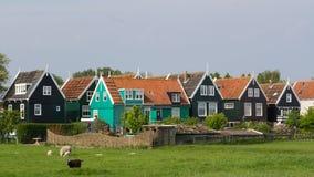 Οι ολλανδικοί ψαράδες στεγάζουν Στοκ εικόνα με δικαίωμα ελεύθερης χρήσης