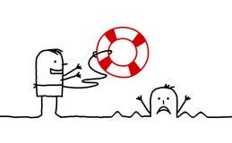 οι οδηγίες σώζουν Στοκ εικόνες με δικαίωμα ελεύθερης χρήσης