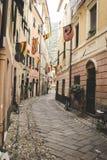 Οι οδοί της παλαιάς ιταλικής πόλης Στοκ Εικόνες