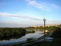 Οι οδοί της πόλης του Μινσκ (Λευκορωσία) Στοκ εικόνα με δικαίωμα ελεύθερης χρήσης