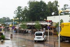 Οι οδοί της πόλης Palanga στη Λιθουανία στοκ εικόνα