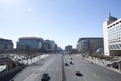 Οι οδοί του Πεκίνου στοκ εικόνα με δικαίωμα ελεύθερης χρήσης