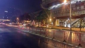 Οι οδοί των μεσάνυχτων της Μπανγκόκ Στοκ Εικόνα