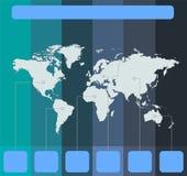 Οι παγκόσμιοι χάρτες Infographics των ηπείρων χρωματίζουν το κενό υποβάθρου διανυσματική απεικόνιση