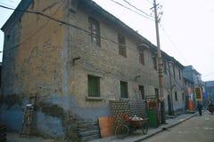 Οι παλαιές κατοικίες πόλεων στην παλαιά πόλη Luoyang Στοκ Φωτογραφία