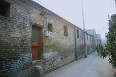 Οι παλαιές κατοικίες πόλεων στην παλαιά πόλη Luoyang Στοκ Εικόνα